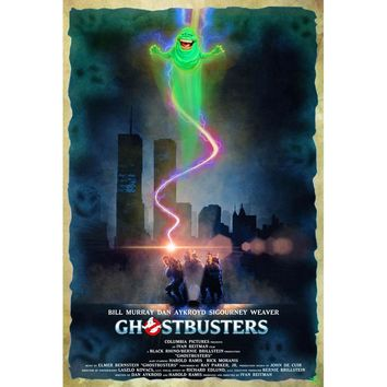 J0018- 2016 Ghostbusters Ghost Hunter Adventure Suspense Movie Pop Silk Art Poster Top Fabric Print Home Wall Decor