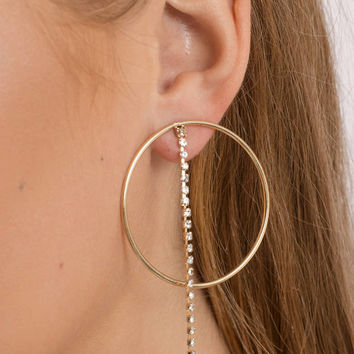 Clarissa Rhinestone Hoop Earrings