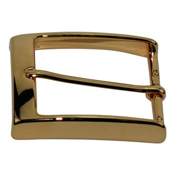 40 mm Italian Solid Brass Belt Buckle with Gold Finish