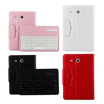 For Samsung GALAXY Tab E 9.6 T560 T561 Magnetic Removable Wireless Bluetooth Keyboard Portfolio Folio PU Leather Case Cover
