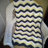 Chevron Blanket Pattern pattern by April Bennett with Cuddle Me Beanies