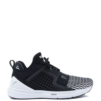 Puma Ignite Limitless Colorblock Trainer in Black White