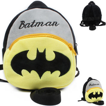 Lovely soft cartoon batman baby Walking Wings Baby harness  baby Anti-lost bag kids keeper children Backpacks baby boy&Strap Bag