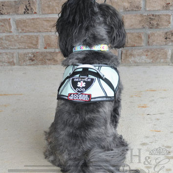 S&R Style Reflective Vest with Patches and Handle - perfect fit for all dogs, including tiny, toy, and teacup sizes!