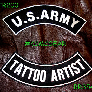 Military Patch Set U.S. Army Tattoo Artist Embroidered Patches Sew on Patches for Jackets