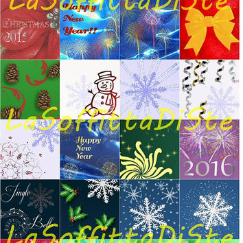 christmas winter squares 1x1 inch clip art new year winter for charms instant download digital scrapbooking collage pendants lasoffittadiste