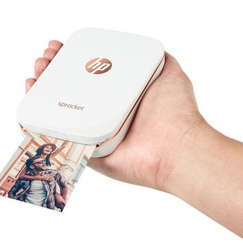 "HP ""Sprocket"" Portable Photo Printer for Devices w/ Case & 3 Paper Packs — QVC.com"