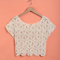Crochet Cover-Up Crop Top