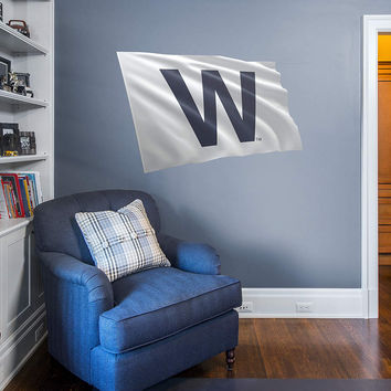 Chicago Cubs White W Flag