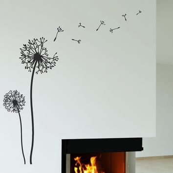 Vinyl Wall Decal Dandelion Flower Floral Decor Stickers Unique Gift (180ig)