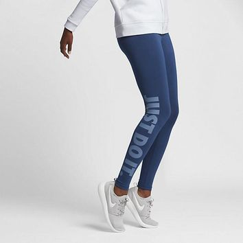 KUYOU Nike Women's Leg-A-See Tights (Coastal Blue/Ocean Fog)