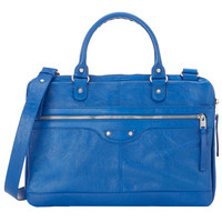 Blue Lambskin Briefcase by Balenciaga