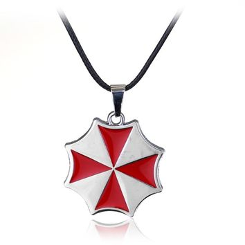 rongji jewelry new fashion movie Resident Evil Umbrella Corporation logo long Necklace Pendant for men and women Factory outlet