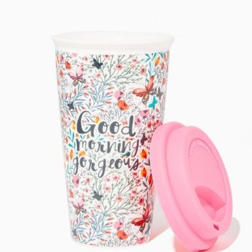 Good Morning Gorgeous Travel Mug | Charming Charlie