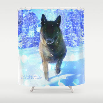 I Will Follow You To The Ends of the World .... As Long as Forever (with Quote) Shower Curtain by soaring anchor designs ⚓