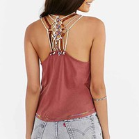Ecote Dreamcatcher Tank Top- Rust