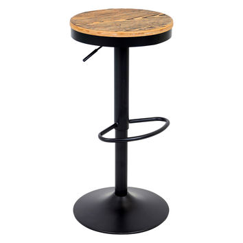 Lumisource Dakota Bar Stool - Black in Black