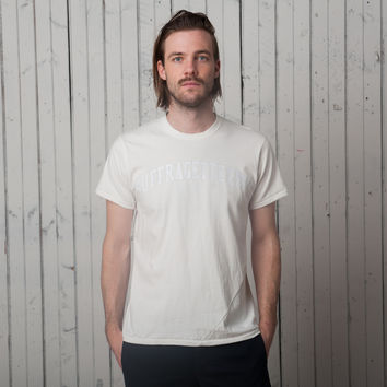 The Suffragette City T - Short Sleeve   White on White