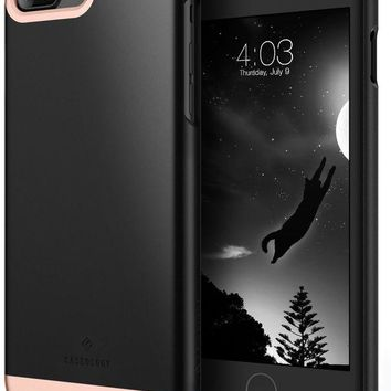 VONEXO9 Caseology Savoy Series iPhone 7 Plus Cover Case with Stylish Design Glide Protective for Apple iPhone 7 Plus (2016) Only - Matte Black