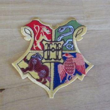 Harry Potter Hogwarts House Crests Sew or Iron On Patch 2.5 Inch