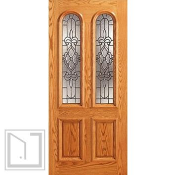 Mahogany Twin Lite, Arch Lite Entry Single Door, Insulated Glass