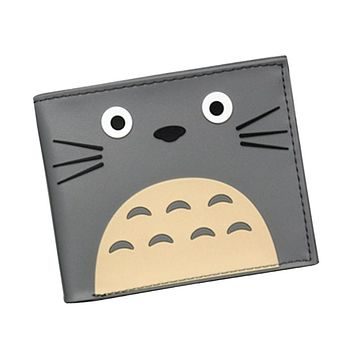 Japan Cartoon Designer Cat Wallet Studio Ghibli Kawii My Neighbor Totoro Purse For Girls 3D Picture Hayao Miyazaki Anime Wallets