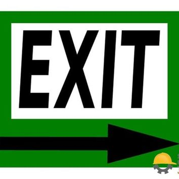 Mighty Line EXIT Sign - 1 Floor Sign