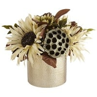 Faux Cream Sunflower Arrangement