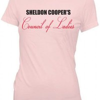 The Big Bang Theory Sheldon Cooper's Council of Ladies Juniors Pink T-Shirt - The Big Bang Theory - | TV Store Online