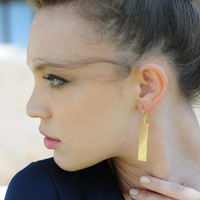 Gold Minimalist Geometric Dangle Earrings, Dangle Earrings, Minimalist Earrings, Gold Dangle earrings, Bridal Earrings, Geometric Earrings