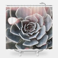 Shiny Succulent Shower Curtain