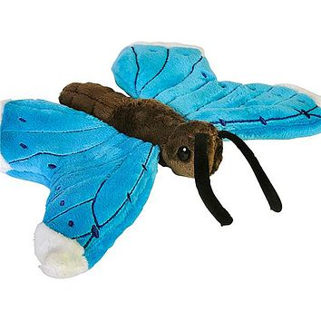 "9"" Blue Morpho Butterfly Stuffed Animal Plush Zoo Animal Friend Collection"