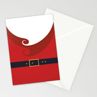 Santa Stationery Cards by Sara Eshak | Society6