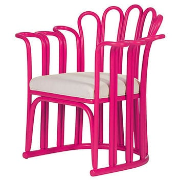 Calla Chair, Hot Pink - Accent Chairs - Chairs - Living Room - Furniture | One Kings Lane