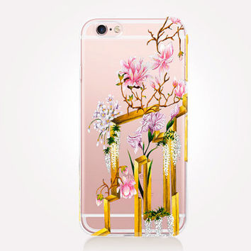 Transparent Japanese Garden Phone Case - Transparent Case - Clear Case - Transparent iPhone 6 - Transparent iPhone 5 - Transparent iPhone 4