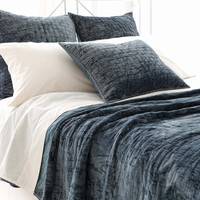 Matte Velvet Juniper Quilted Bedding design by Pine Cone Hill