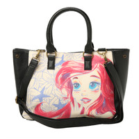 Disney Loungefly Ariel Sketch Tote Bag