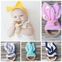 Organic All Natural Wooden Teething Ring made from Renewable Resource