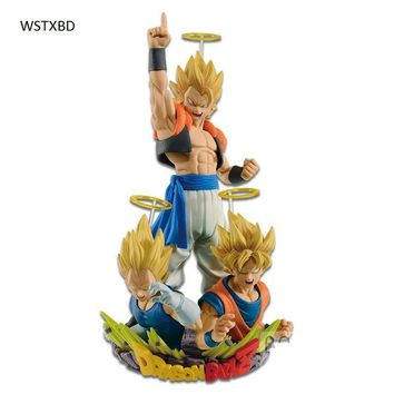 WSTXBD BANPRESTO Original Dragon ball Z SSJ Gogeta Goku &Vegeta PVC Figure Toys Figurals Model Kids Dolls