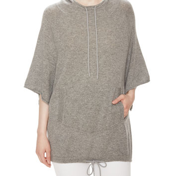 Autumn Cashmere Women's Cashmere Anorak Sweater - Grey