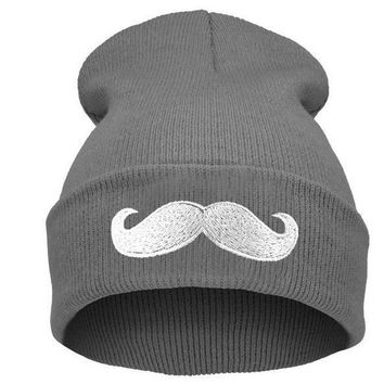 One-nice™ Perfect Big Beard Embroidery Women Men Hiphop Beanies Winter Knit Hat Cap