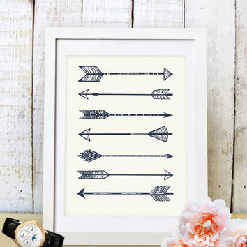 30% OFF SALE Arrow Art Wall,Arrow Art,Creative Wall Art, Dorm Decor, Walll Decoration, Arrow Poster, Native  Nursery Art, Arrows Print
