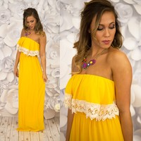 Meadow Maven Maxi Dress in Yellow