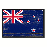New Zealand Country National Flag Vintage Canvas Print with Picture Frame Home Decor Wall Art Collection Gift Ideas