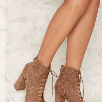 Nasty Gal Cut It Close Lace-Up Heel