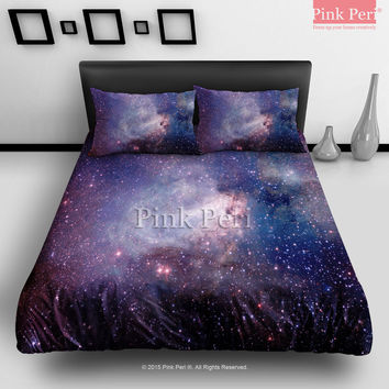 Nebula Space Galaxy Texture Bedding sets Home & Living Wedding Gifts Wedding Idea Twin Full Queen King Quilt Cover Duvet Cover Flat Sheet Pillowcase Pillow Cover 007