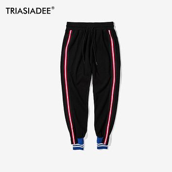 TRIASIADEE Mens Hip Hop Sweatpants Track Jogger Cotton Pants