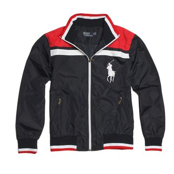 POLO RALPH LAUREN 2018 autumn and winter new men's fashion wild loose cardigan jacket Black