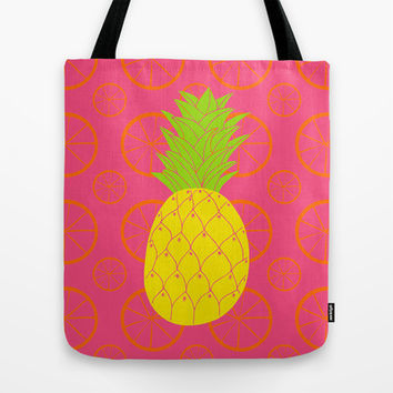Pineapple Tote Bag by Ariel Lark | Society6