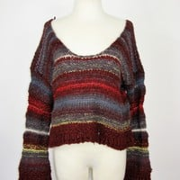 Free People 'Limbo' Crop Pullover Sweater M NWOT